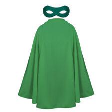CAPE AND MASK ADULTS SUPERHERO FANCY DRESS COSTUME UNISEX COMIC FILM HERO SET