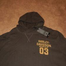 NWT Mens Harley-Davidson Garage Dark Gray Thermal Hoodie! Size 3XL NICE!
