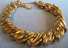 Florenza Heavy Bow design Chain Bracelet estate jewelry