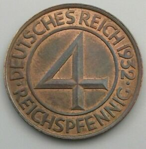 GERMANY 4 PFENNIG 1932 A #gq 391