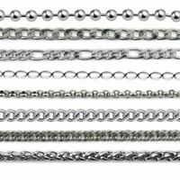 5m/lot Stainless Steel Necklace Chains for DIY Jewelry Making Wholesale 8 Style