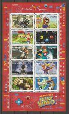 FRANCE 2005...SOUV. SHEET n° 91 MNH ** VIDEO GAMES HEROS ...Héros des Jeux Vidéo