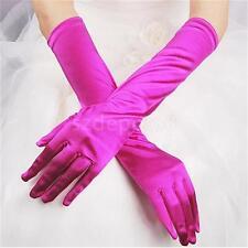 LONG STRETCH SATIN BRIDAL WEDDING COSTUME DANCE PROM DRESS OPERA GLOVES NEW