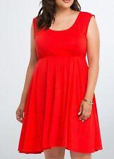Torrid Red Heart Sunglasses Keyhole Back Skater Dress Size 3 aka 22 24 3X  #1117