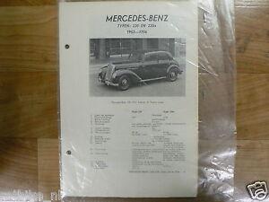 ME10-MERCEDES-BENZ TYPE 220 EN 220A 1952-1956 -INFO