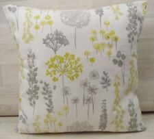 Handmade Cushion Cover - Marsons Dandelion - Grey - Same Fabric Both Sides