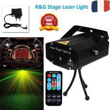 Rouge Vert Jeux de lumière laser Projecteur Noel Disco Eclairage Telecommande