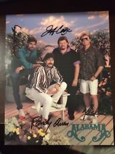 Autographed 8 x 10 - Alabama Country Music Group (Owen, Cook, Gentry & Herndon)