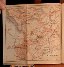 1913 Italie Septentrionale Manuel du Voyageur Karl Baedecker Maps French