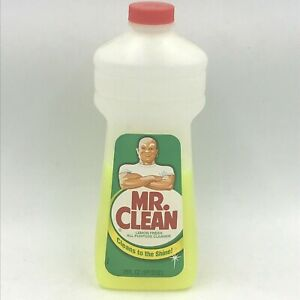 Vintage 1980s Mr Clean Bottle Cleaner 28 Oz Plastic with Half Remaining 1986 HH