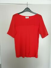 NEXT Orange see thru on top blouse size 12 40