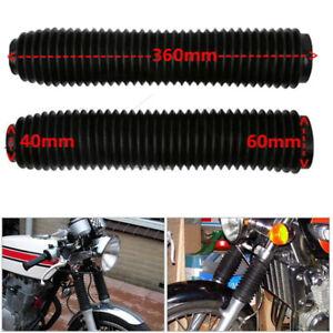 1Pair 360MM Rebber Fork Dust Covers Gaiter Boots Shock For Motorcycle Dirt Bike