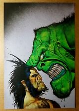 Wolverine Hulk Face Off Marvel Comics Poster by Simon Bisley