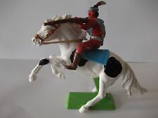 BRITAINS DEETAIL MOUNTED APACHE RARE PINTO HORSE
