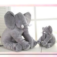 "24""Large Big Soft Pillow Plush Stuffed Elephant Animal Toy Teddy Bear kids Play"