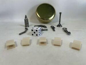 50th Anniversary Parker Bros Clue Weapons Dice Clips and Gold Tin
