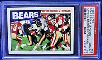 "1987 Topps Bears Team Leaders ""Payton Barrels Forward"" (PSA 10) Walter Payton"