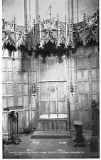 postcard   Edinburgh  chair of investiture Thistle chapel  unposted  Tuck's