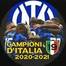 Nuova Spilla INTER 19 SCUDETTO 2020/21 diametro 5,7 cm. Campioni d'Italia