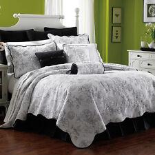 100% Cotton Coverlet / Bedspread Quilt Set Double Queen Size Bed 230x230cm