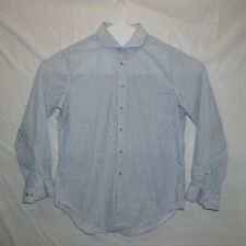 Lot of 2 Calvin Klein Mens XL Button Down Long Sleeve Dress Shirts Blue Grey