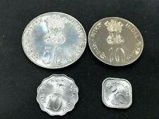 INDIA 5 10 Paise & 10 50 Rupees 1977 FAO 4 Coins Set