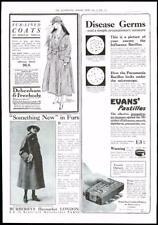 1916-ANTIQUE PRINT Advertising Debenham Freebody Evans BURBERRYS (071)