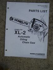 Homelite Xl-2 Automatic Oiling Chain Saw Parts List See More In Our Store U