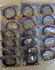 """lot of 17 for THE FIGHT CANCER AWARENESS 8"""" PURPLE SILICONE WRISTBAND BRACELET"""