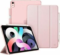 """For iPad Air 4th 10.9"""" 2020 Case Translucent Frosted Cover Stand w Pencil Holder"""
