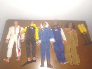 Big Jim LOTTO di 5 Mattel outfit accessori sport avventura. giocati