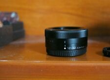 MFT Panasonic Lumix 12-32 mm Pancake lens black micro four thirds