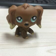 LITTLEST PET SHOP Cocker Spaniel LPS #960 Brown Tan Dipped Ears Blue Star Eyes