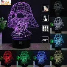 Star Wars Darth Vader 3D Acrylic LED Night Light 7Color Table Desk Art Lamp Gift