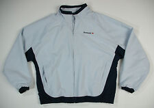 Reebok Classic Polyester Jacket Blue Womens Size Large
