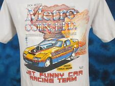 vtg 80s Dick Reed Metro Coin Jet Funny Car Racing Faded 2-Sided T-Shirt S/M thin