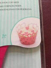 Sweetly Does it Pack of Twelve Heart Filigree Paper Cup Cake Wraps