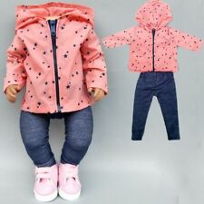 Doll Clothes Set 43cm Newborn Baby 18 Inch Girl Jacket Jump Suit Wear Fit Reborn