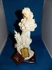 """Mint Giuseppe Armani 1987 Lady With Doves 13"""" Figurine Statue Florence With Tags"""