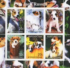 JACK RUSSELL DOG ANIMAL PET AND PUPPIES KYRGYZSTAN 2000 MNH STAMP SHEETLET