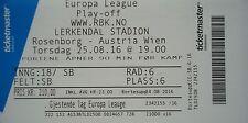 mint TICKET UEFA EL 2016/17 Rosenborg BK - Austria Wien