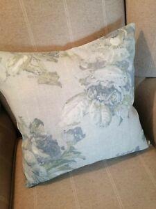 "Reversible Laura Ashley Violetta Duck Egg Fabric Cushion Cover 16"""