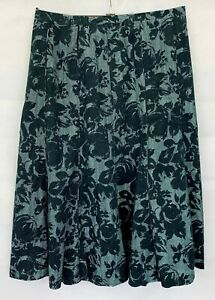 M&S Womens Grey Mix Floral Skirt Size 14