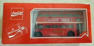 SOLIDO France, Double Decker Die Cast Toy Bus with Coca-Cola Advertisement 1/50