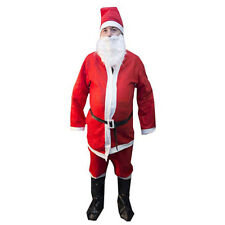 Complete Santa Claus Suit Pants Beard Hat Adult Christmas Holiday Party Costume