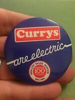 Vintage Pin Badge. Currys Advertising. Centenary 100 Years 1884-1984