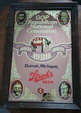Stroh's Beer Mirror - 1980 Gop Republican National Convention Detroit, Michigan