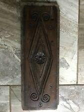 17th Century Carved Oak Daisy Bulls Eye Panel
