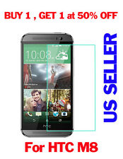 New 9H 0.3MM Real Premium Tempered Glass Screen Protector Film For HTC ONE M8