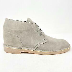 Clarks Originals Bushacre 2 Grey Mens Suede Chukka Boots